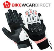 Texpeed Womens Black & Pink Short Cuff Gloves