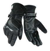 Womens Leather Motorcycle Warm Gloves Ladies Black Motorbike Waterproof Biker