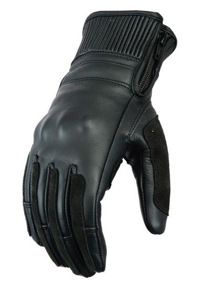 Womens Ladies Leather Motorcycle Motorbike Gloves Scooter With Biker Protection