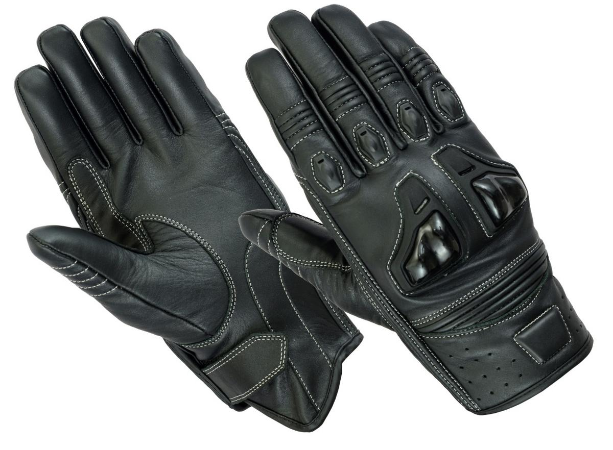 Texpeed Black Short Cuff 4K Leather Gloves
