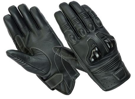 Texpeed Black Short Cuff 4K Leather Gloves
