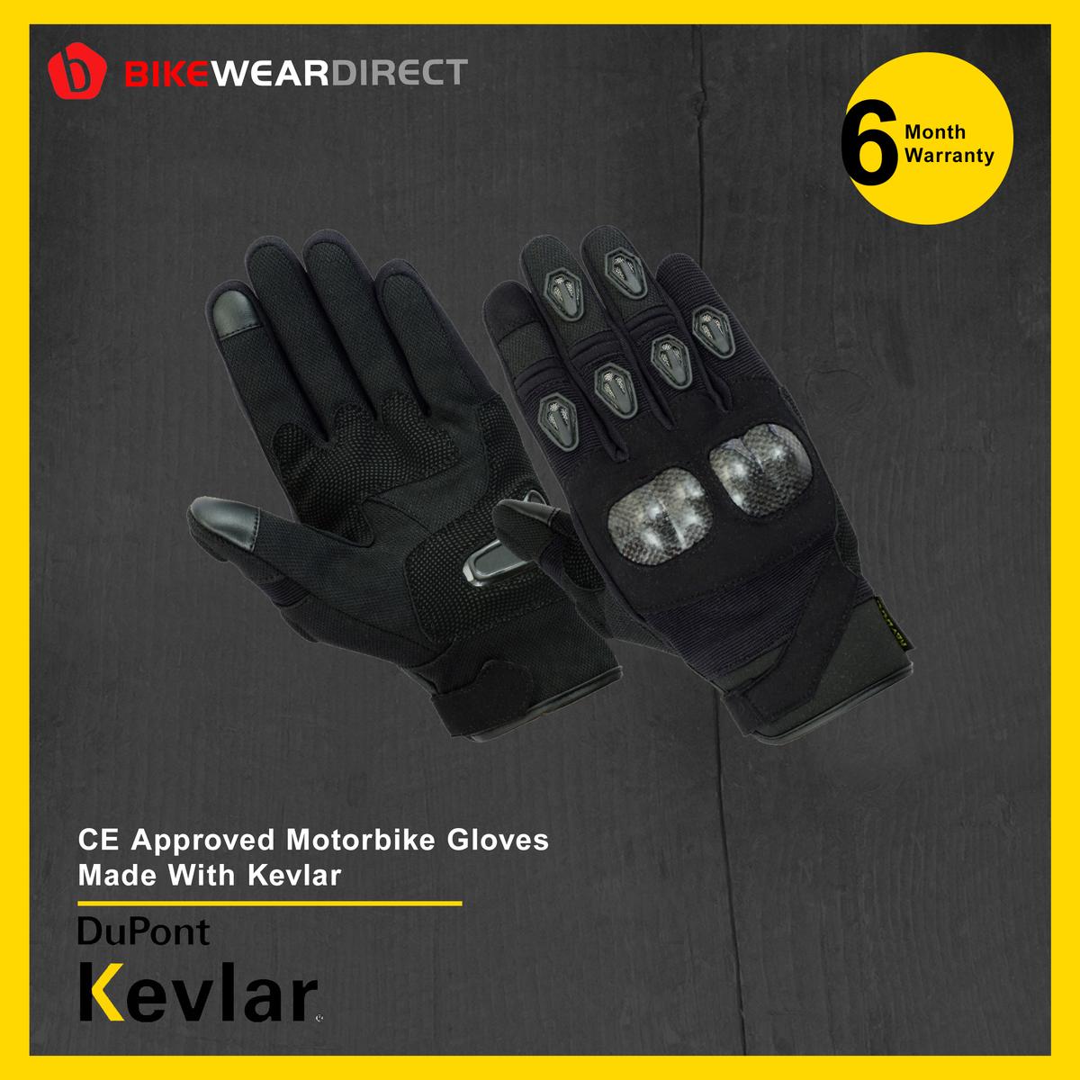 Texpeed Black Kevlar Lined Short Cuff Gloves