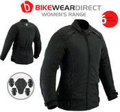 Texpeed All Black Womens Cordura Jacket