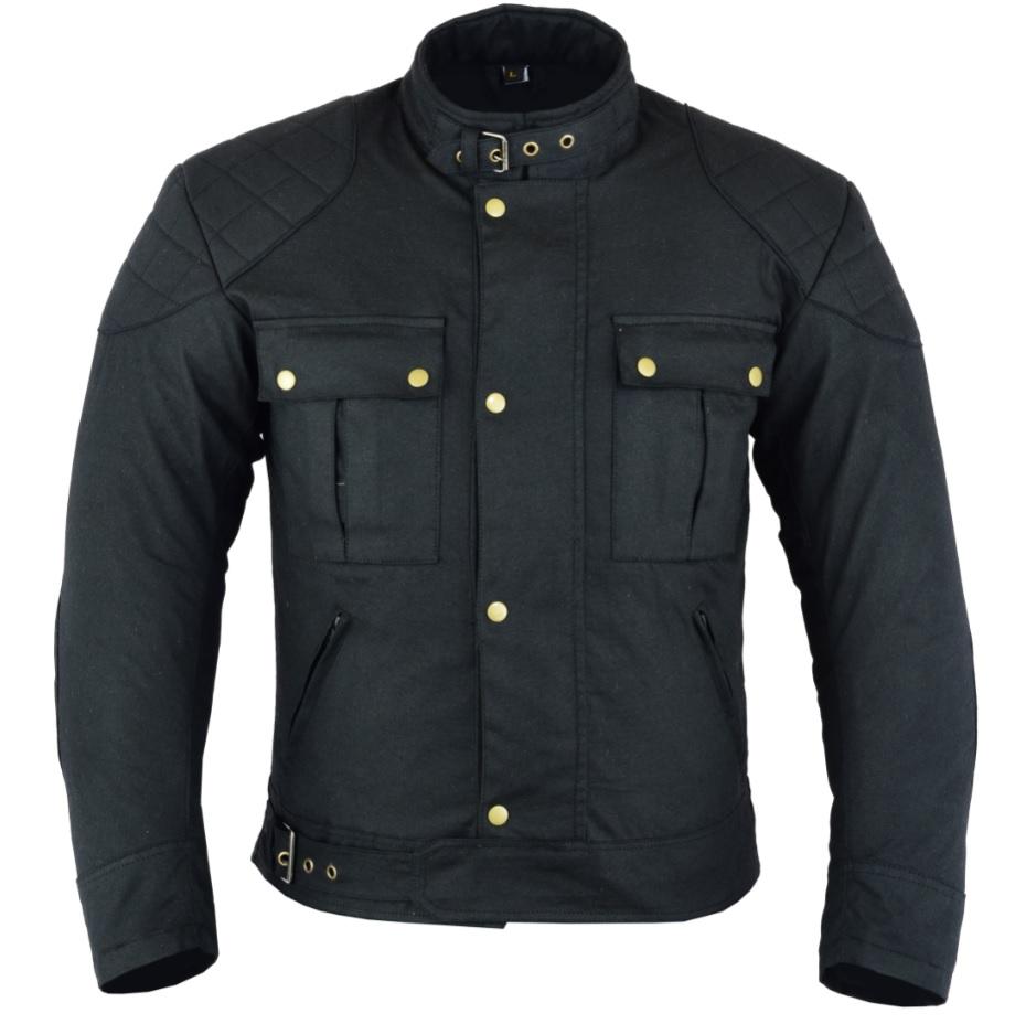 Texpeed Black Waxed Motorcycle Jacket