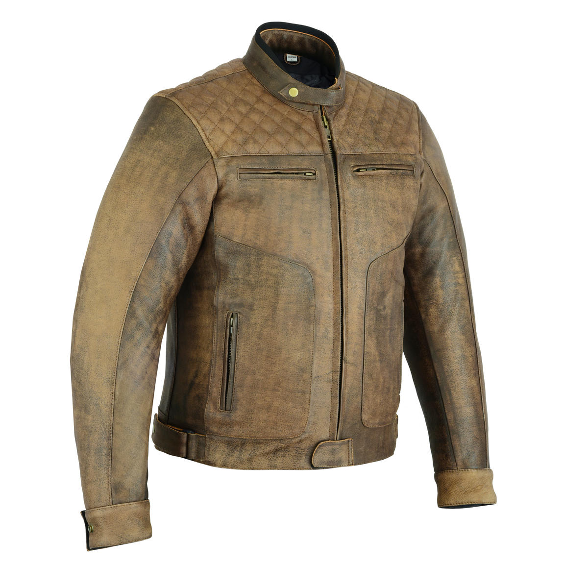 LJ-BRN-DIA (Brown Diamond Leather Jacket)