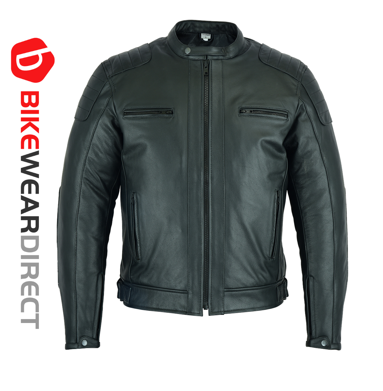 Texpeed Distressed Black Short Leather Jacket