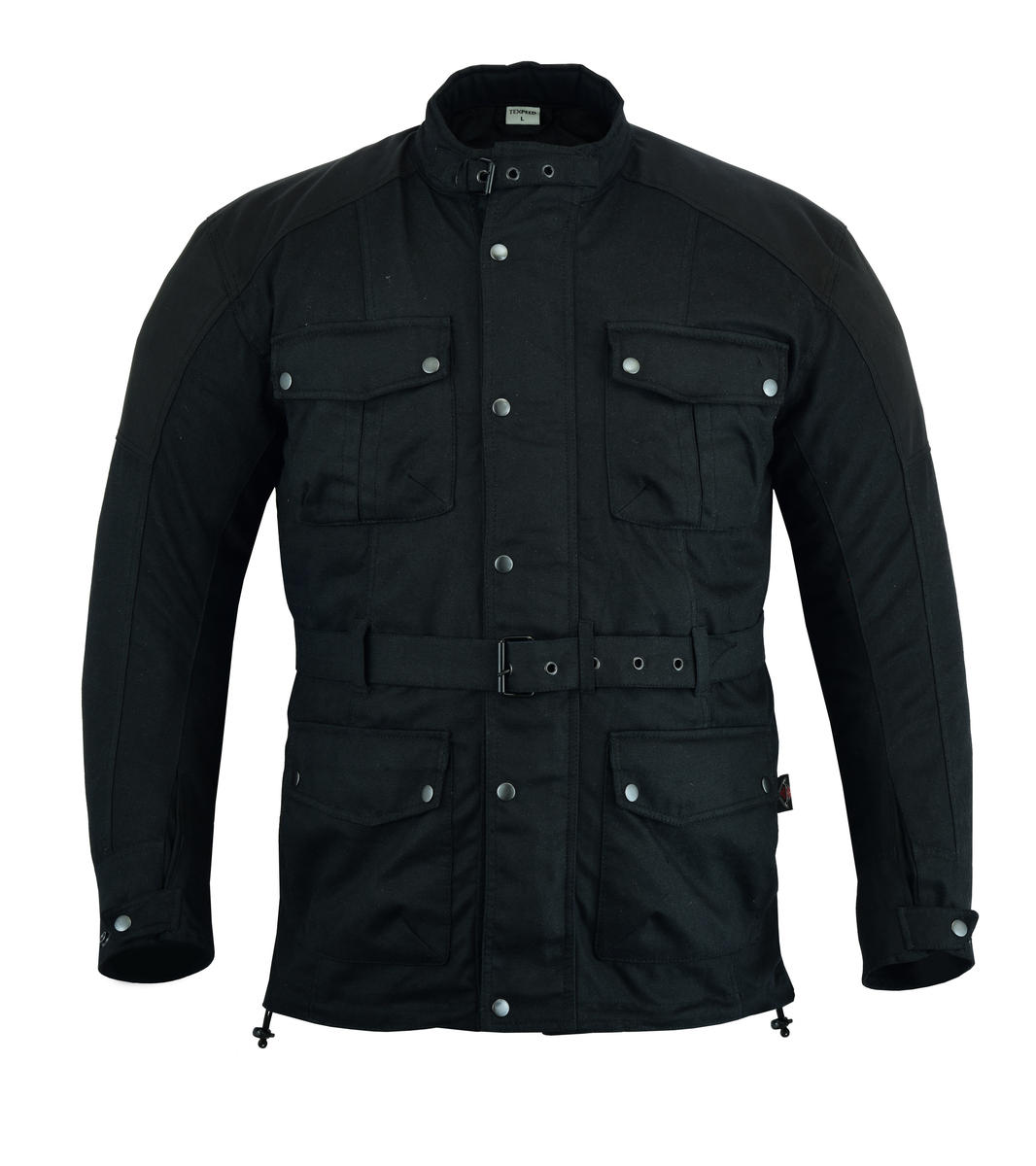 Texpeed Cordura & Wax Coated Black Motorcycle Jacket