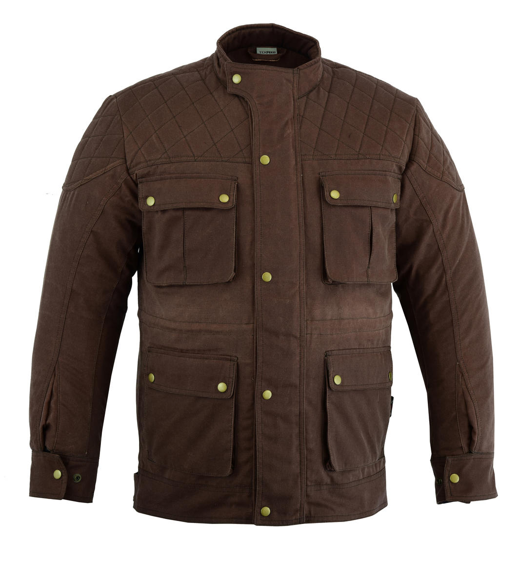 Texpeed Brown Waxed Diamond Cut Jacket