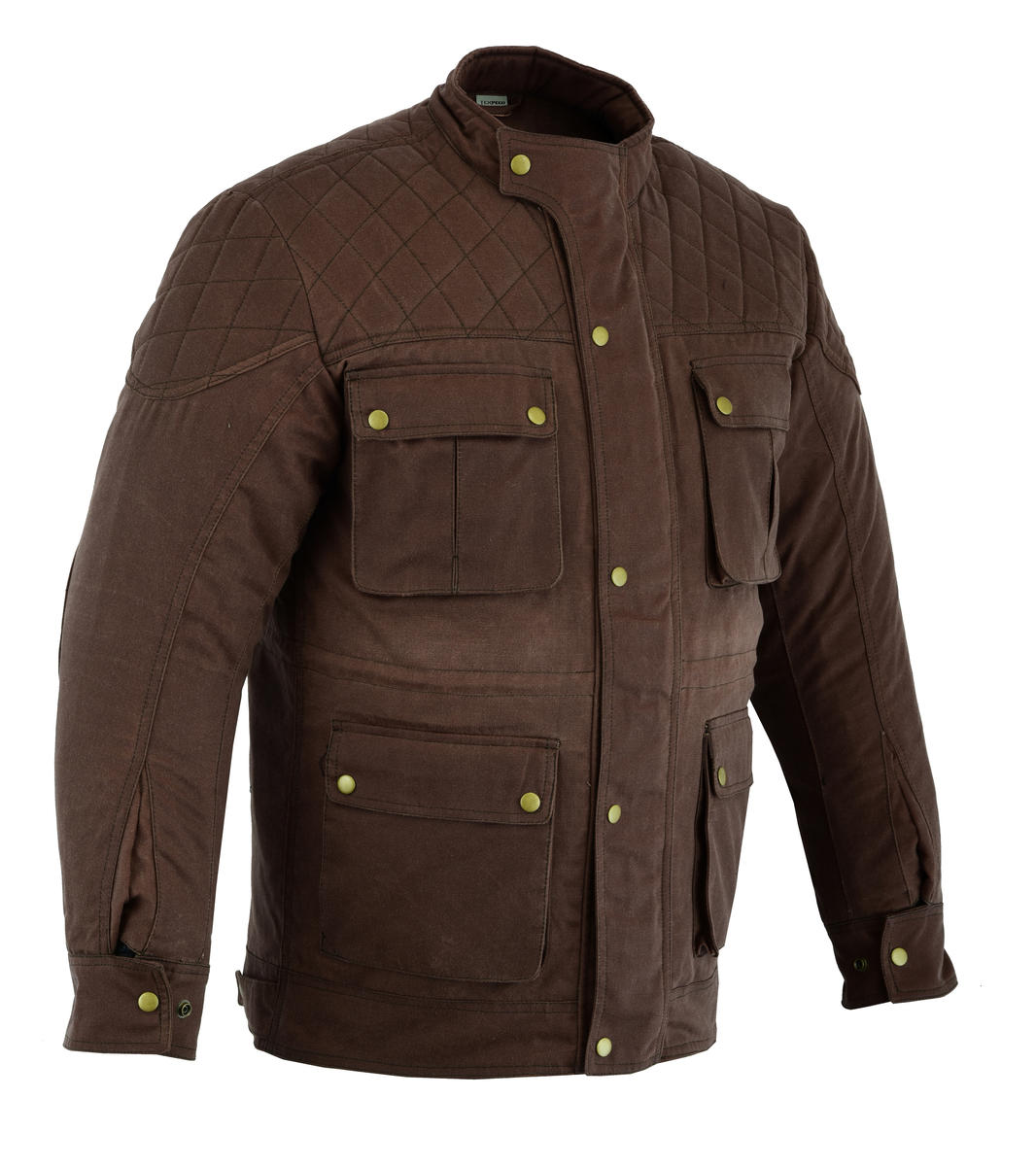 CJ-WAX-BRN-DIA (Long Brown Wax Jacket)