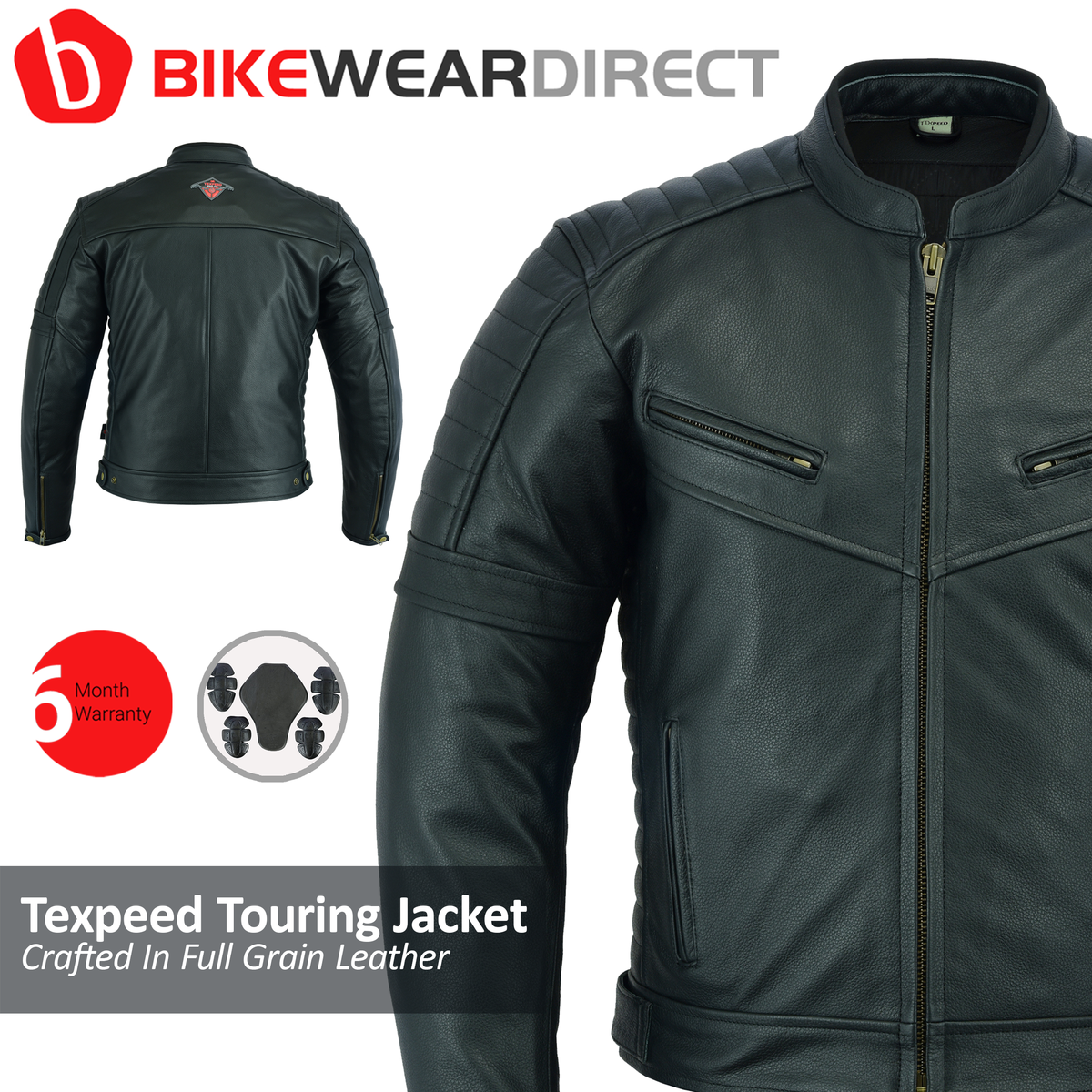 Texpeed Touring Black Leather Jacket