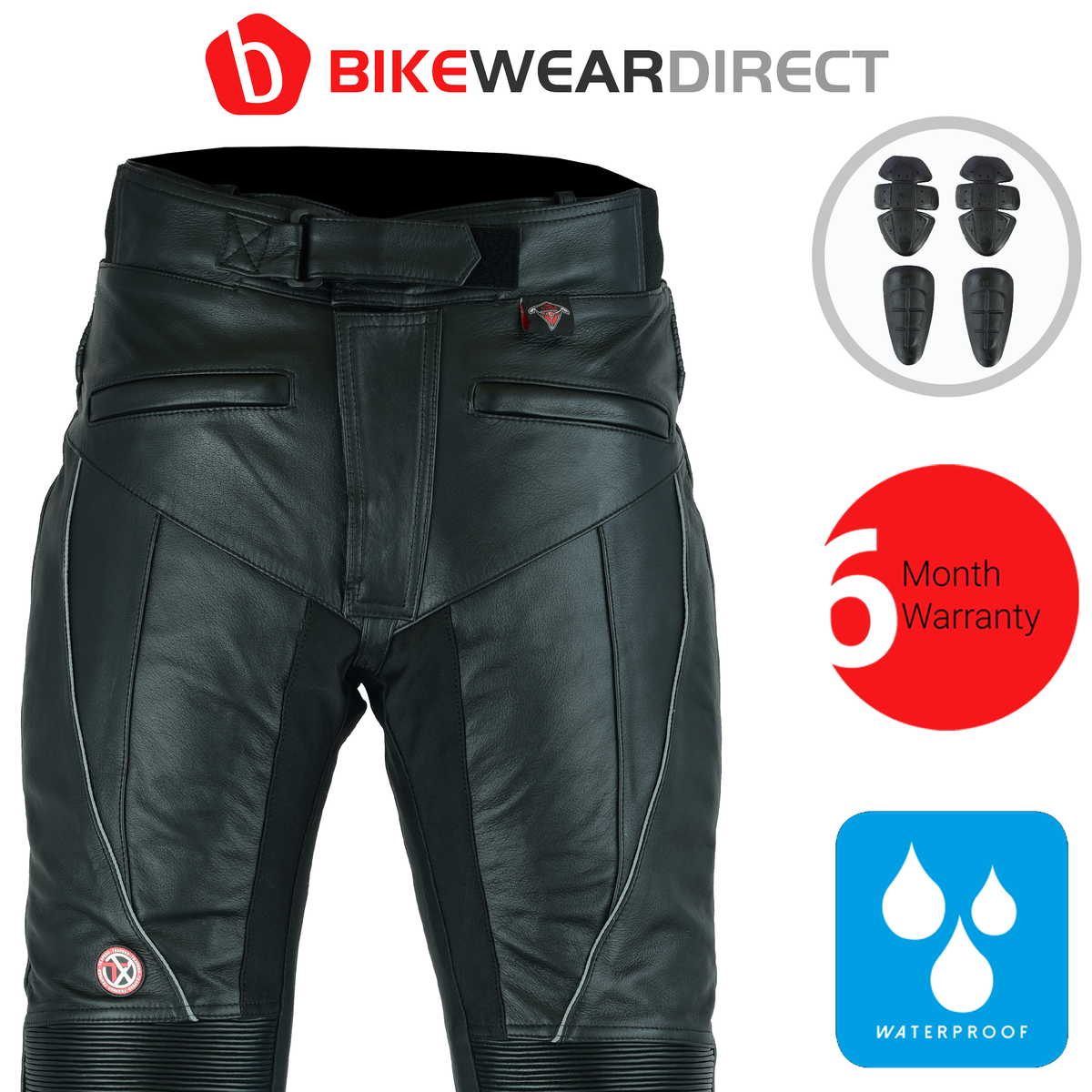 Texpeed Mens Waterproof Leather Trousers