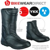 All Black Motorcycle Boots