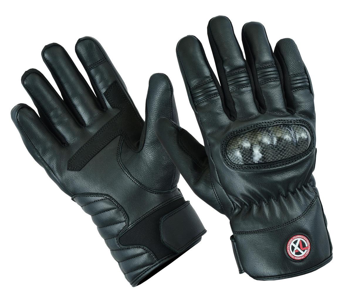 Motorcycle Motorbike Leather Gloves Winter Thermal Waterproof CE Protectors Bike