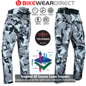 Texpeed White & Grey Camo Armoured Trousers 2020