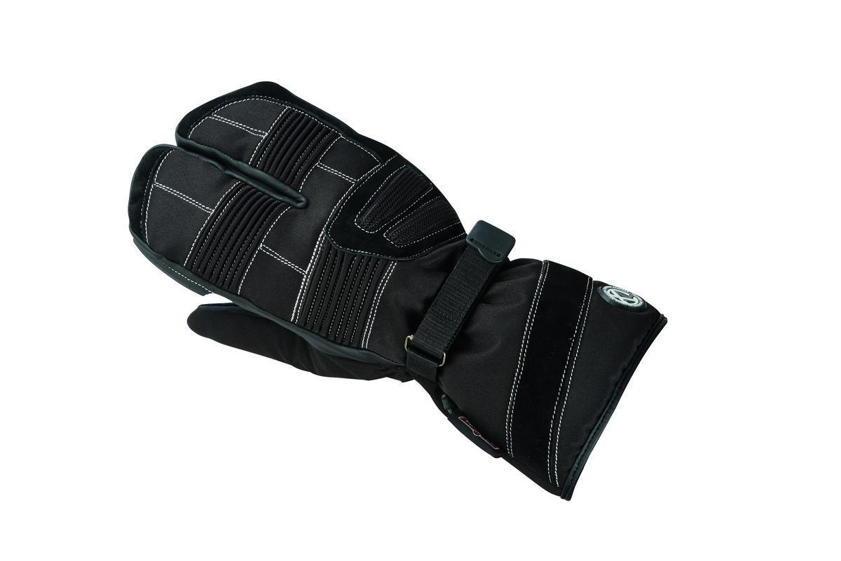 Waterproof Motorbike Motorcycle Gloves Textile Black Biker Cordura Warm Mitts