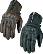 Motorbike Motorcycle Leather Gloves Zipped Made With Aramid Biker Protection