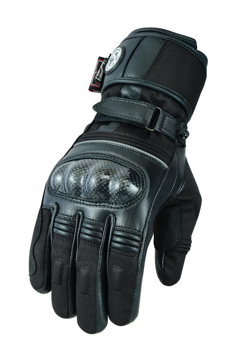 Ladies Black or Hi-Vis Cordura Waterproof Motorcycle Gloves
