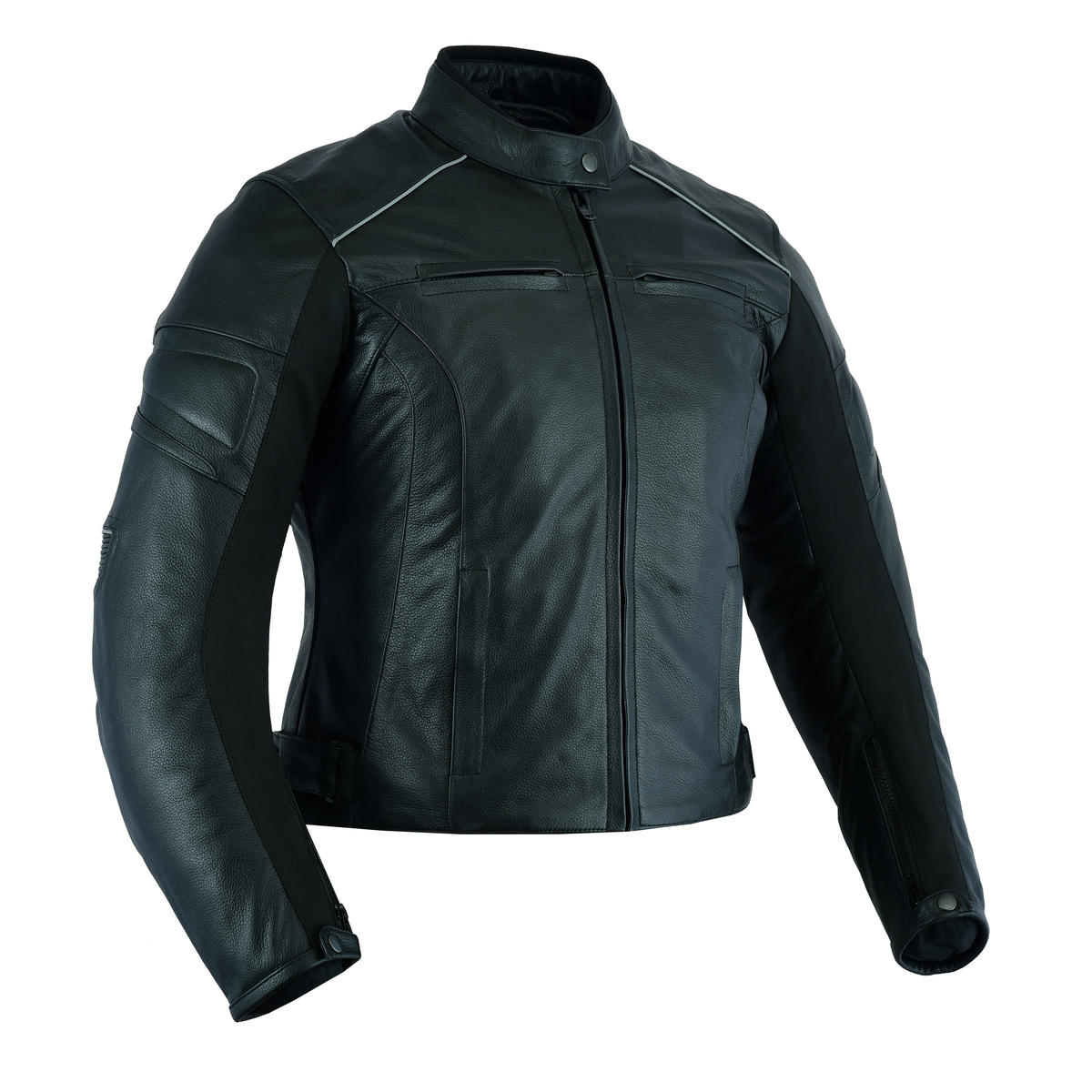 Leather Womens Motorcycle Motorbike Jacket Black CE Armoured Biker Racing