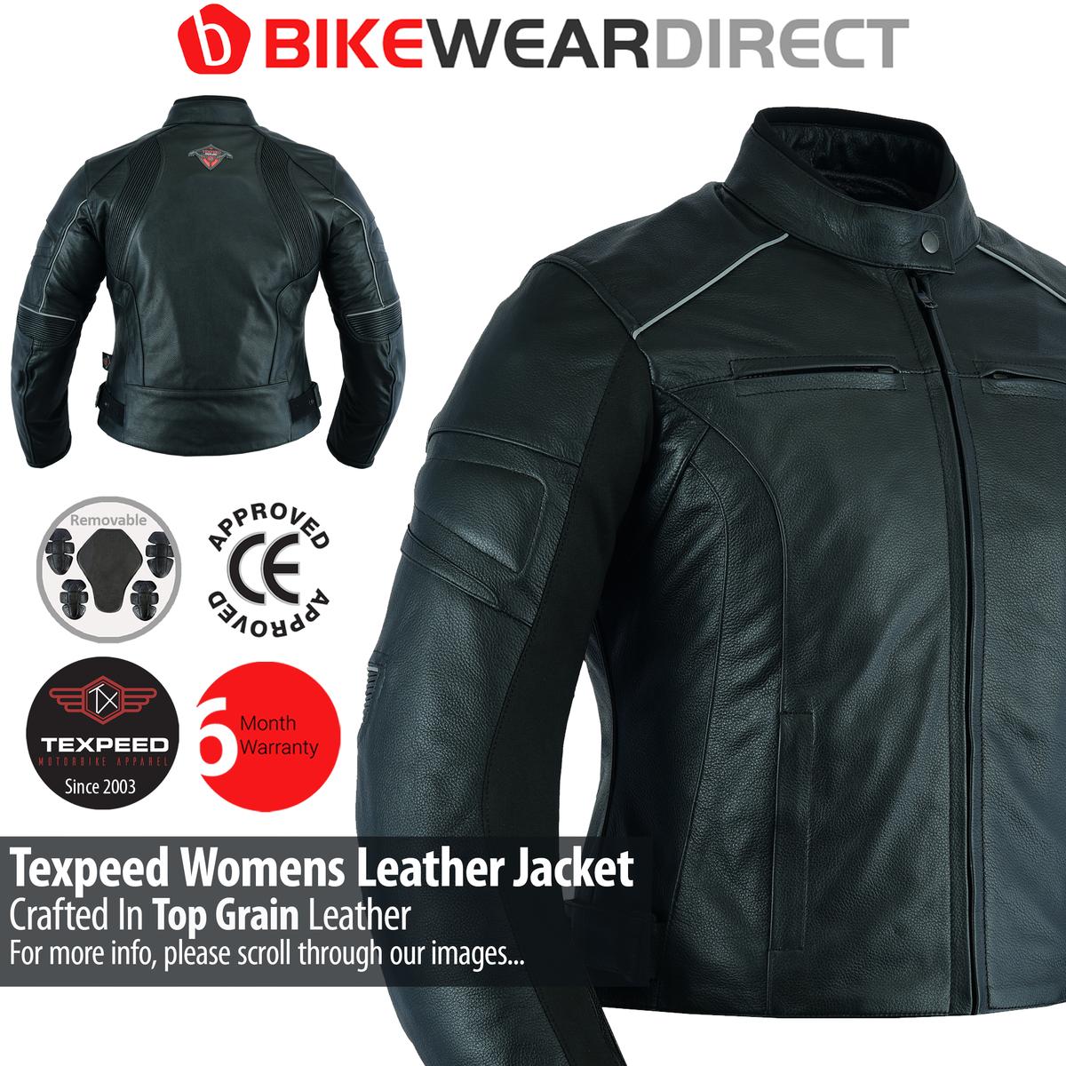 Texpeed Womens Race20 Motorbike Jacket In Black