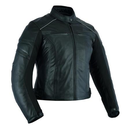 Leather Womens Motorcycle Motorbike Jacket Black CE Armoured Biker Racing
