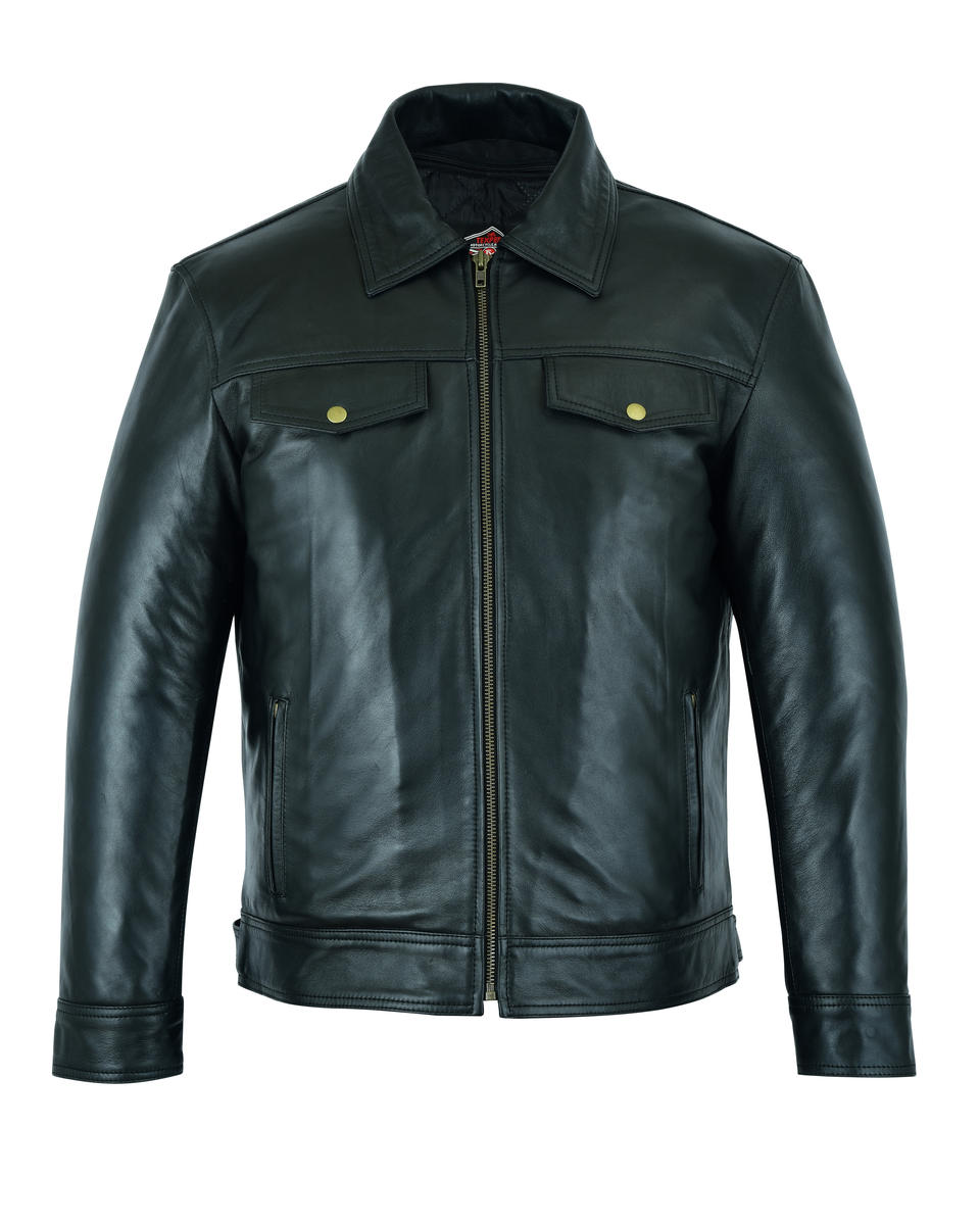 Leather Casual Biker Fashion Shirt Jacket Soft Touch Motorbiker Moto Style