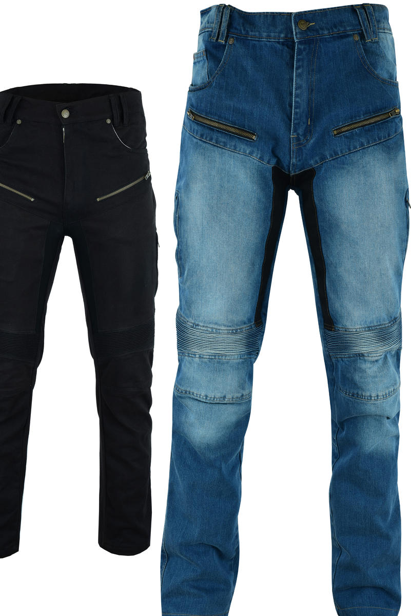 Motorcycle Jeans Motorbike Protective Aramid Denim Trousers With CE Biker Armour