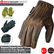 G-KEV         Texpeed Black Kevlar Lined Slip On Gloves