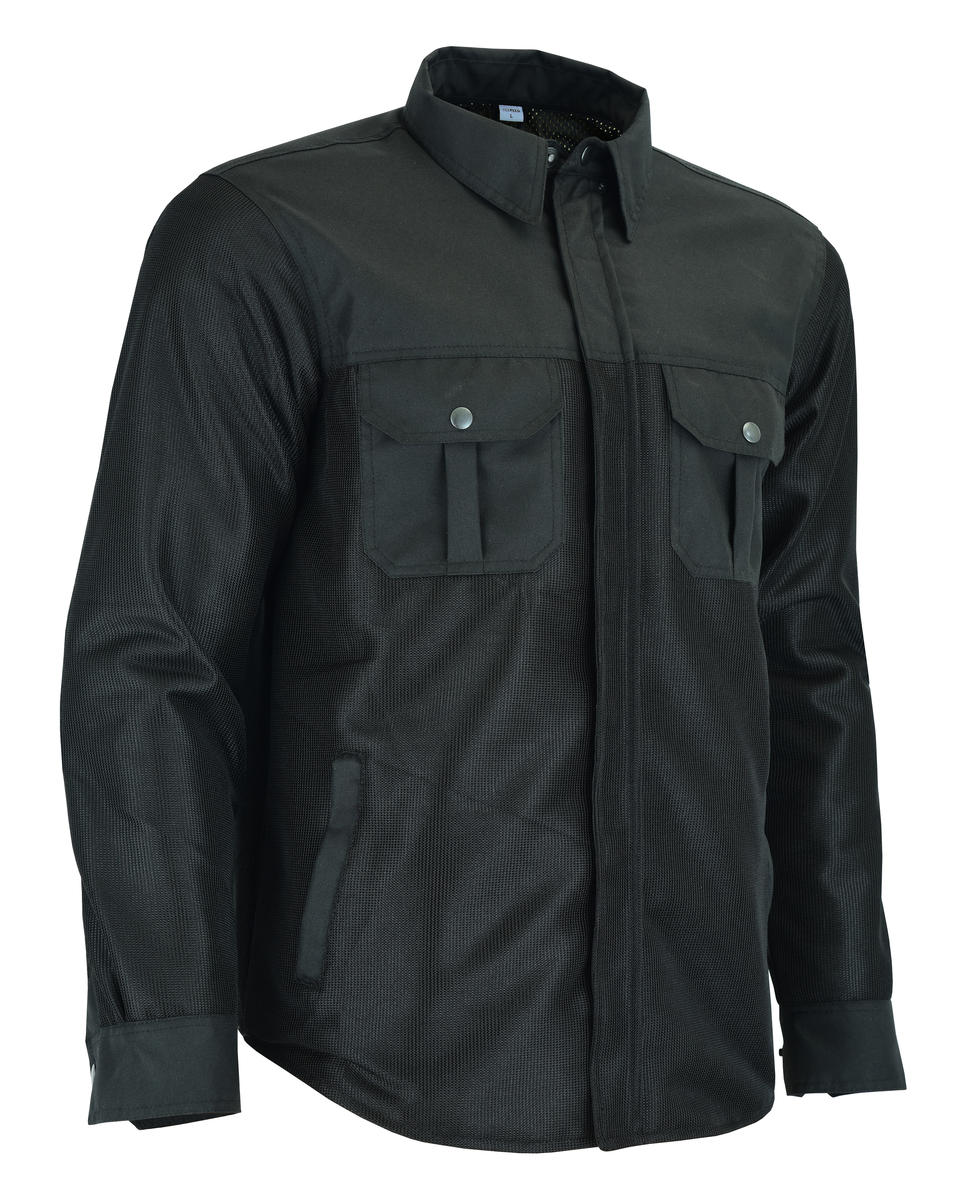 Motorcycle Motorbike Shirt Jacket Aramid Lined Protection With CE Biker Armour