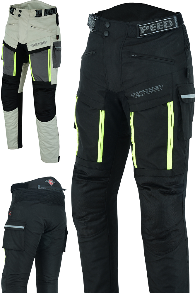 Motorcycle Motorbike Trousers Waterproof Cordura With CE Biker Armour Protection