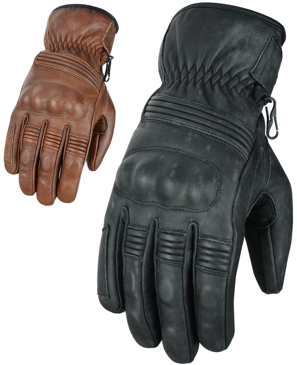 Motorcycle Motorbike Leather Gloves With CE Knuckle Armour Biker Protection