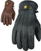 Motorcycle Motorbike Leather Gloves Warm Soft With Genuine Biker 3M Thinsulate