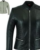 Womens Leather Jacket Coat Motorcycle Casual Style Genuine Ladies Biker Design