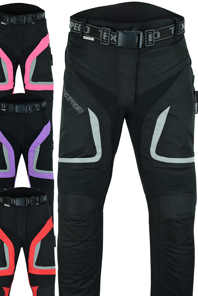 Womens Motorcycle Motorbike Trousers Waterproof Ladies With Biker Armour Protect