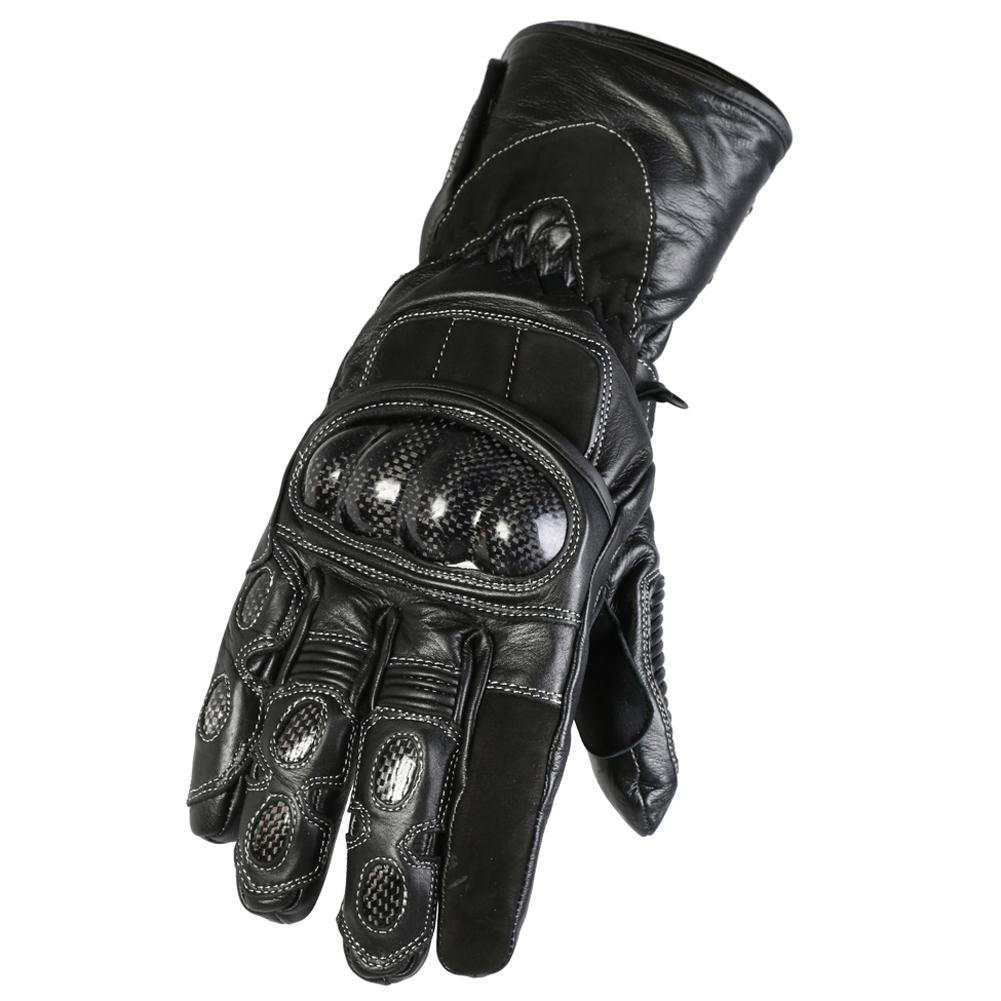 Texpeed Kevlar Black Leather Waterproof Gloves