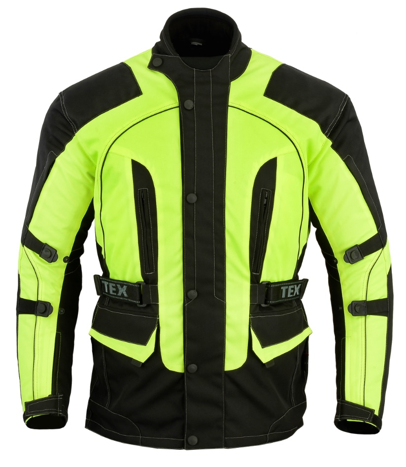 Texpeed Black & Hi-Vis Armoured Jacket