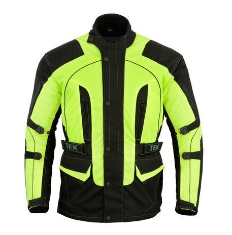 Motorbike Jacket Hi Vis Waterproof Motorcycle Thermal Biker CE Armour Protect