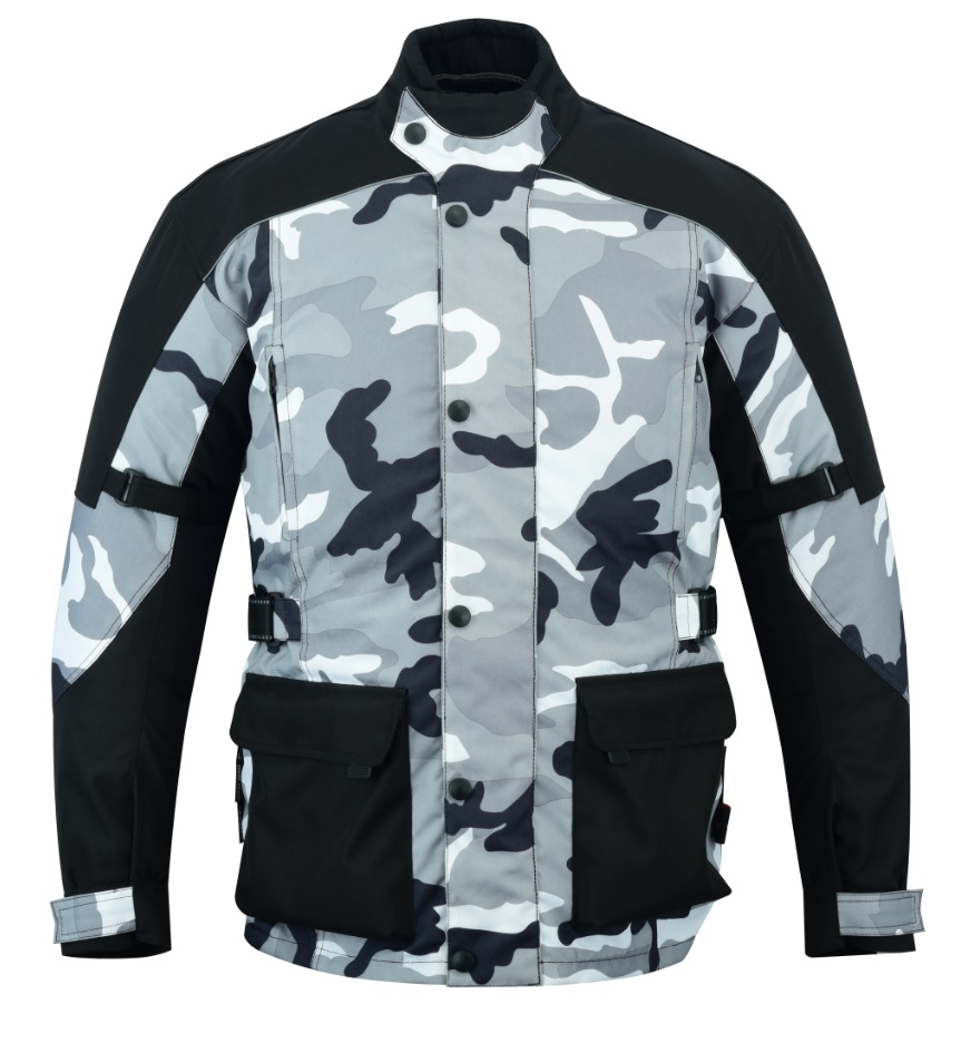 Texpeed Black & Grey Camo Armoured Jacket