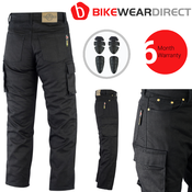 Texpeed Black Cargo Kevlar Trousers