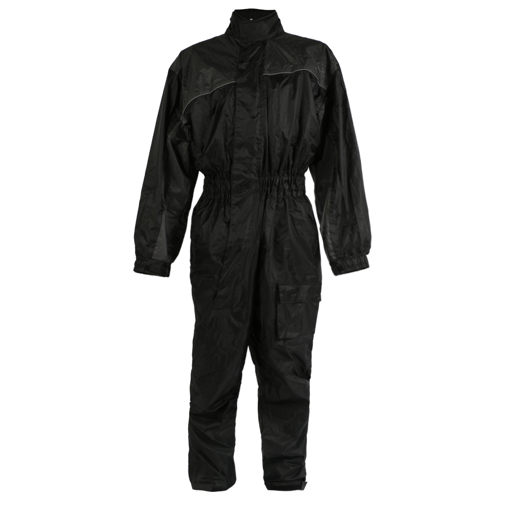 Texpeed Black Elasticated Waterproof Rain Suit