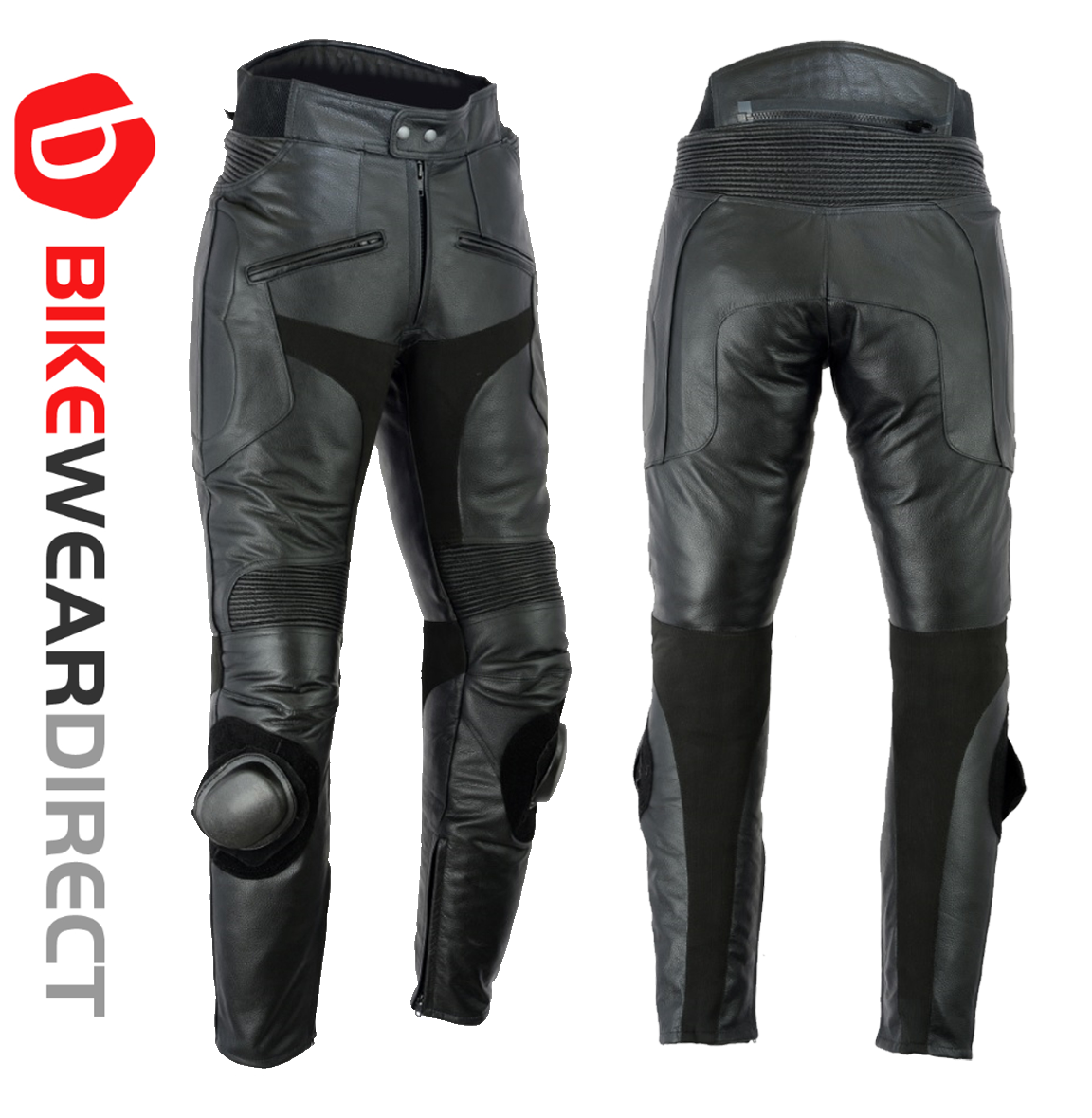 2dba62d961a570 Texpeed Black Mens Leather Trousers With Sliders   Leather Trousers ...