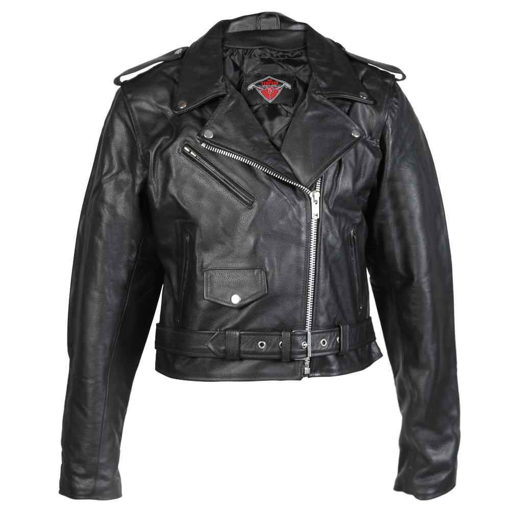 Texpeed Womens Leather Brando Jacket