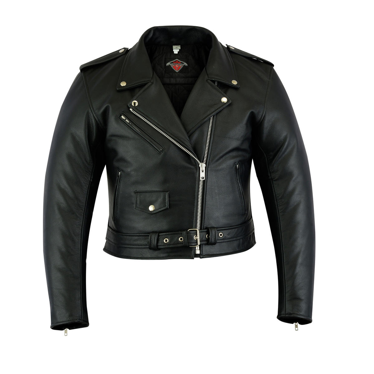 Texpeed Womens Leather Brando Jacket