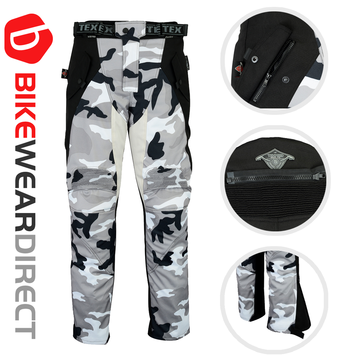 Texpeed White & Grey Camo Armoured Trousers