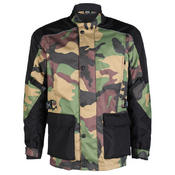 Texpeed Black & Green Camo Armoured Long Length Jacket