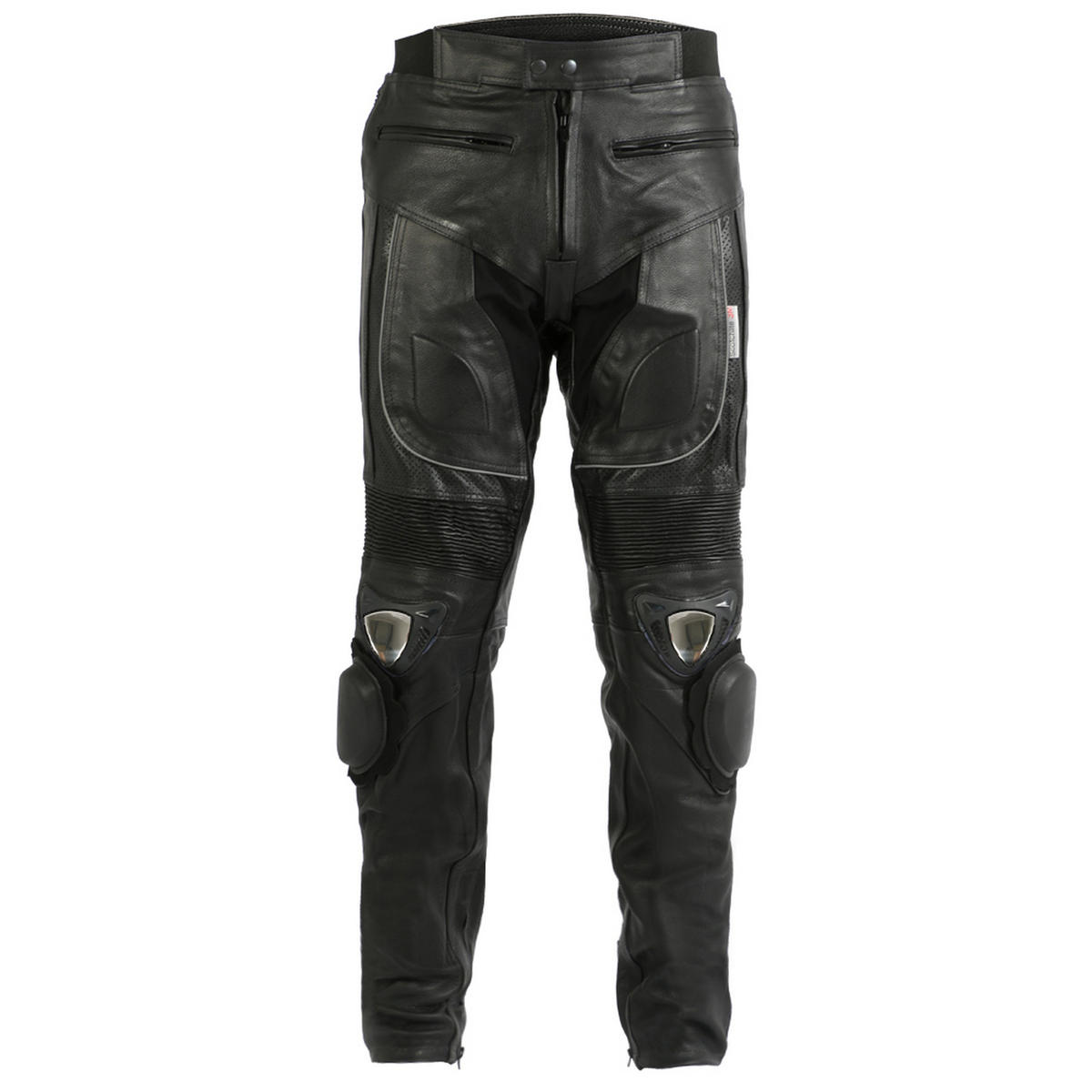 Turin Mens Leather Trousers With Metal Sliders