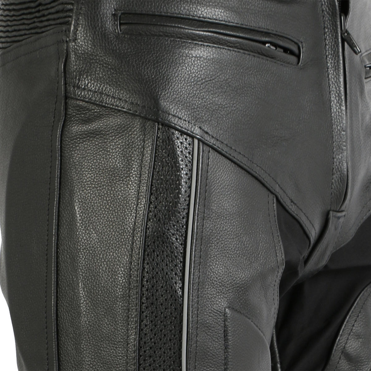 1e43cbcec8cb86 Turin Mens Leather Trousers With Metal Sliders. 16% Off