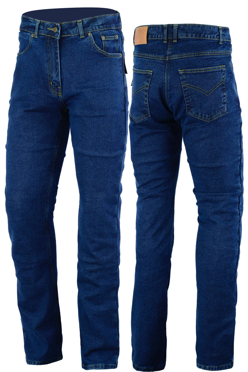 Turin Motorcycle Wear Blue Denim Protective Aramid Lined Trousers