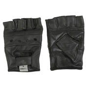 Texpeed Black Fingerless Leather Gloves