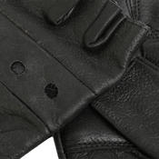 Cowhide Leather Fingerless Quality Motorbike / Motorcycle Biker Touring Gloves