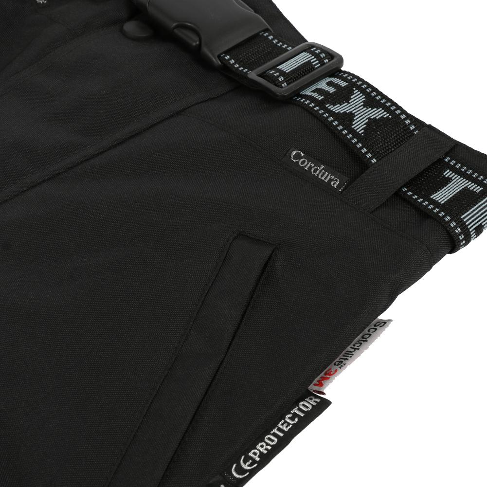 646e9071f7c31b SENTINEL Moto moto impermeabile sopra i pantaloni in nero di Texpeed